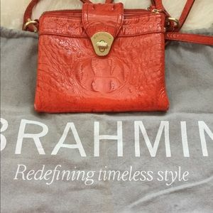Brahmin Orange Crossbody Bag